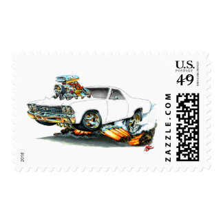 1968-69 El Camino White Truck Postage Stamp