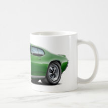 1968-69 GTO Dk Green Car Coffee Mug