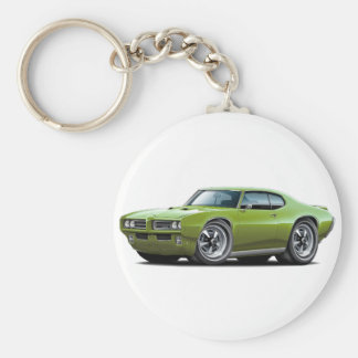 1968-69 GTO Green Car Keychain