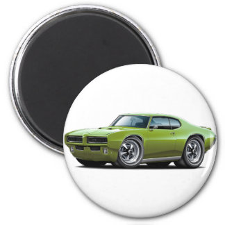 1968-69 GTO Green Car Magnet