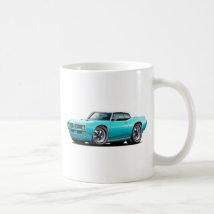 1968-69 GTO Turquoise-White Top Car Coffee Mug