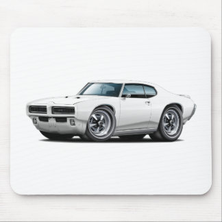 1968-69 GTO White Car Mouse Pad