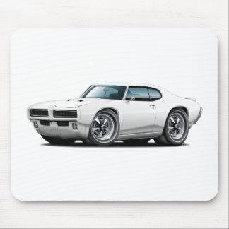 1968-69 GTO White Car Mouse Pad