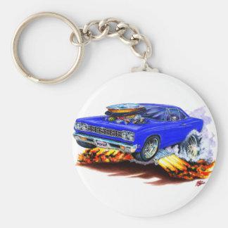 1968-69 Roadrunner Blue Car Keychain