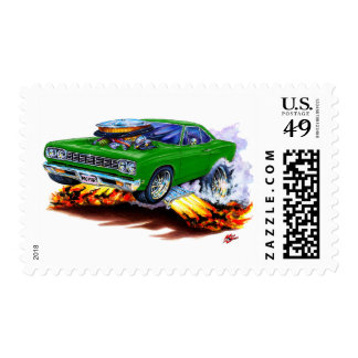 1968-69 Roadrunner Green Car Postage Stamp