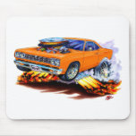 1968-69 Roadrunner Orange Car Mouse Pad