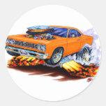 1968-69 Roadrunner Orange Car Sticker