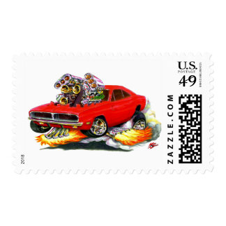 1968-70 Charger Red Car Postage