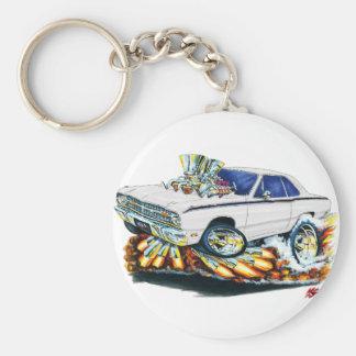 1968-71 coche del blanco del dardo de Dodge Llavero Redondo Tipo Pin