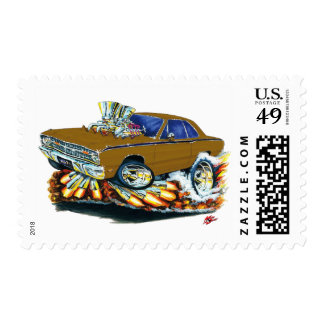 1968-71 Dodge Dart Brown Car Postage