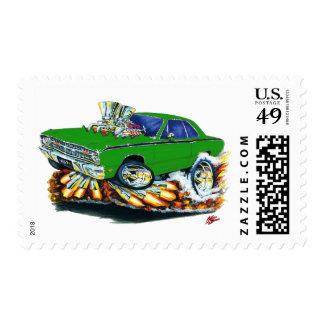 1968-71 Dodge Dart Green Car Postage