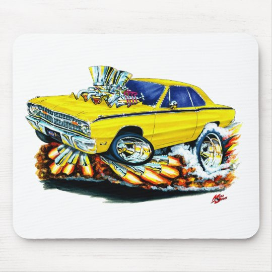 1968-71 Dodge Dart Yellow Car Mouse Pad