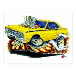1968-71 Dodge Dart Yellow Car Postcard