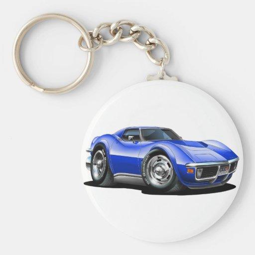 1968-72 Corvette Blue Car Keychain