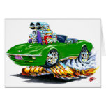 1968-72 Corvette Green Convertible Card