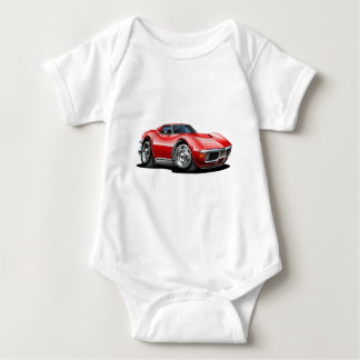1968-72 Corvette Red Car Baby Bodysuit