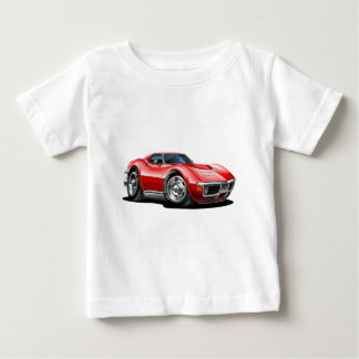 1968-72 Corvette Red Car Baby T-Shirt