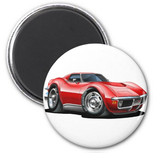 1968 72 Corvette Red Car Refrigerator Magnet Zazzle