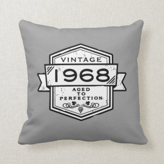 1968 Aged To Perfection Throw Pillow