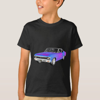 1968 AM Muscle Car in Purple and Blue T-Shirt