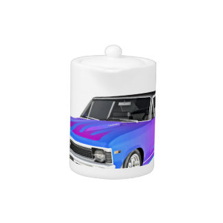 1968 AM Muscle Car in Purple and Blue Teapot