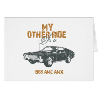 1968 AMC AMX CARD