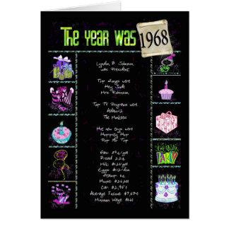1968 Birthday Fun Facts Card