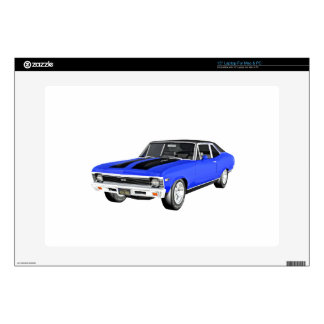 1968 Blue Muscle Car Skin For Laptop