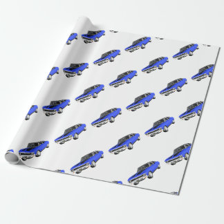 1968 Blue Muscle Car Wrapping Paper