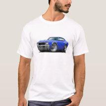 1968 Buick GS Blue Car T-Shirt