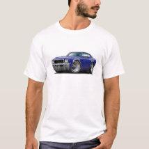 1968 Buick GS Dk Blue Car T-Shirt