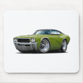 1968 Buick GS Ivy Green-Black Top Car Mouse Pad