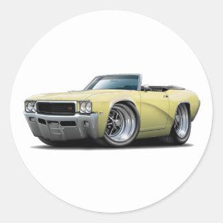 1968 Buick GS Yellow Convertible Sticker