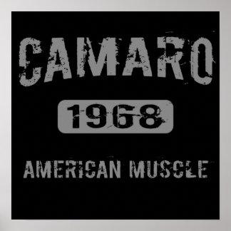1968 Camaro American Muscle Poster