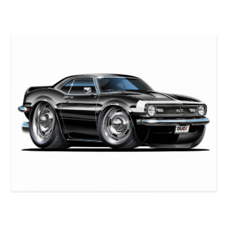1968 Camaro Black-White Car Postcard