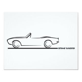 1968 Camaro Convertible BLK 4.25x5.5 Paper Invitation Card