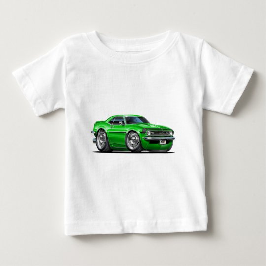 1968 Camaro Green-Black Car Baby T-Shirt