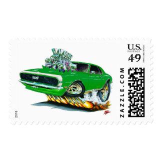 1968 Camaro Green-White Car Postage
