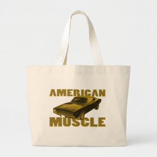 1968 charger golden american muscle tote bag