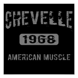 1968 Chevelle American Muscle Poster