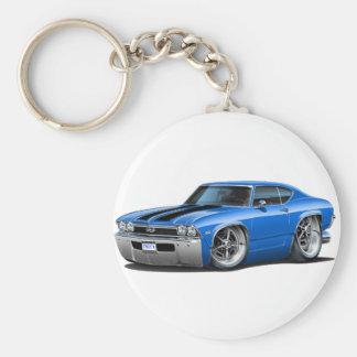 1968 Chevelle Blue-Black Car Key Chains