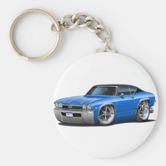 1968 Chevelle Blue-Black Top Keychain
