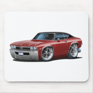 1968 Chevelle Maroon-Black Top Mouse Pad
