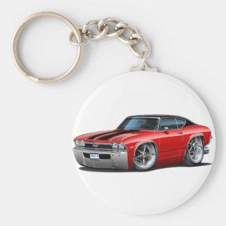 1968 Chevelle Red Black Stripes Keychains