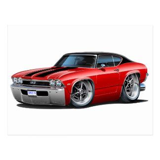 1968 Chevelle Red Black Stripes Postcard