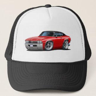 1968 Chevelle Red Black Top Trucker Hat