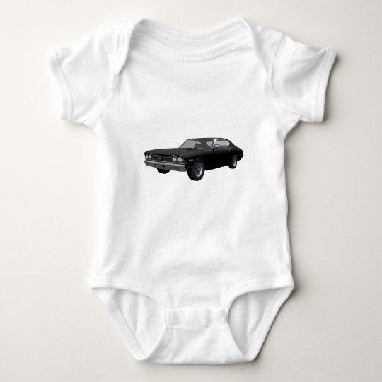 1968 Chevelle SS: Black Finish Baby Bodysuit