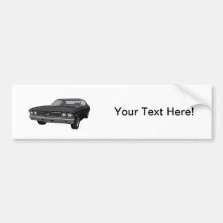 1968 Chevelle SS: Black Finish Bumper Sticker
