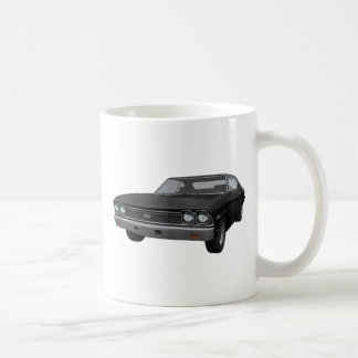 1968 Chevelle SS: Black Finish Coffee Mug