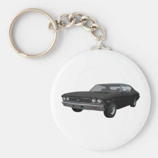 1968 Chevelle SS: Black Finish Keychain